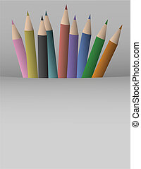 Colorful pencil cover