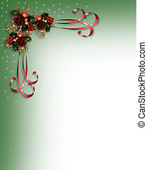 Christmas ribbons border