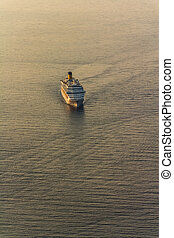 Cruiser - Early morning sunrise - panorama with cruiser.