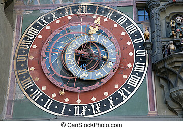 Astronomical Clock 1191-1256 - Zytglooge, Bern, Switzerland;...