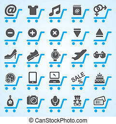 Shopping and E-commerce Icons Set ideal for web business