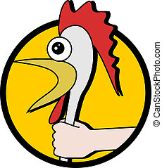 Crazy chicken - Creative design of crazy chicken
