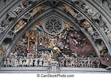 último, Jugdement, kung, 1460-1480, Berner, Munster,...
