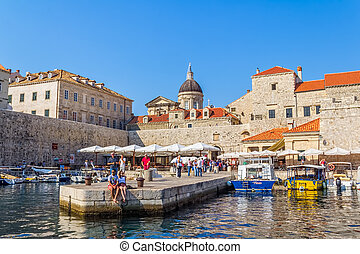 Dubrovnik old town - DUBROVNIK, CROATIA - SEPTEMBER 02 2012...