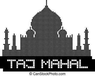 Taj Mahal pixel - Creative design of Taj Mahal pixel