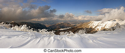 Mountain panorama in mountain Small Fatra