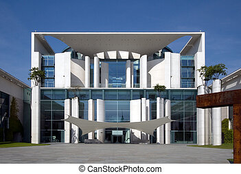 Chancellor Office Building - Look at the front of the german...