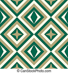 Fashion pattern with squares and stars - Geometrical pattern...