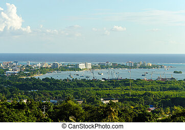 San Andres Harbor in Colombia - The harbor of San Andres...