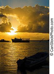 Sunrise over the Caribbean Sea