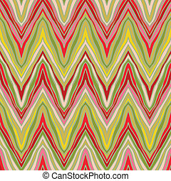 psychedelic linear zigzag pattern, seamless vector...