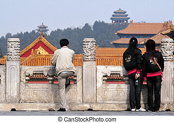 The Forbidden city in Beijing China - BEIJING - MARCH...