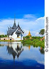 バンコク,  prasat,  sanphet, 宮殿, タイ