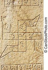 esvástica, sagrado, antiguo, símbolo,...