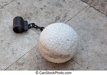 Prisoner ball and chain - Photo of a prisoner ball and chain...