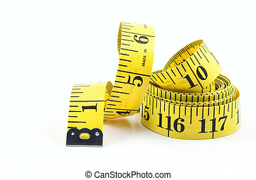 Tailors Measuring Tape - A tailors measuring tape coiled up...