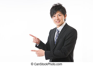 Young businessman to recommend it to