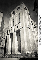 Palais des Papes in Avignon, France - Medieval popes...