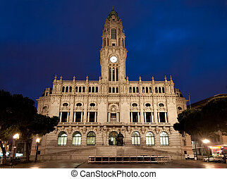 Porto City Hall in the Avenida dos Aliados, Portugal