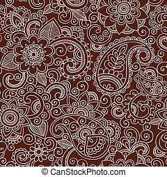 Henna Flower Seamless Pattern
