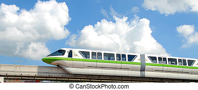 monorail train photographed in Florida
