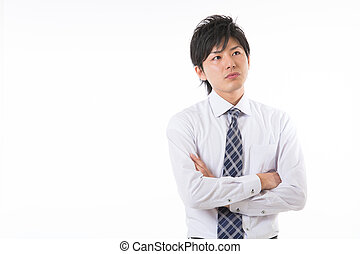 The businessman who is troubled - young businessman who is...