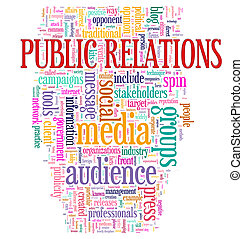 Public relations Wordcloud - Illustration of Word tags of...
