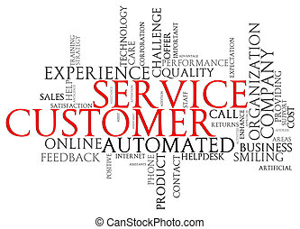 Customer service wordcloud - Illustration of customer...