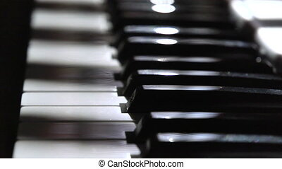piano keyboard - Time lapse of sunlight through window...