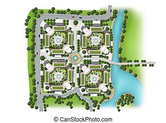 architectural building plans present