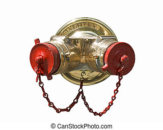 Standpipe - A standpipe with tow chains hunging isolated on...