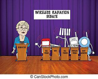 radio, radiación, debate