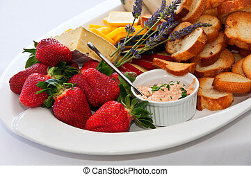 Selection of appetizers with dip - Selection of appetizers...