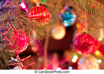 varicoloured cristmas ball - glow cristmas decoration on...