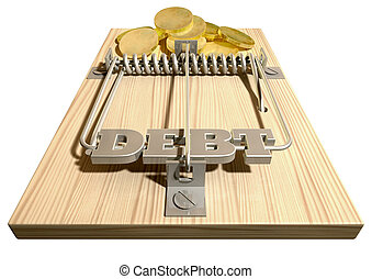 Mouse Debt Trap Front Coins - A regular wood and metal mouse...