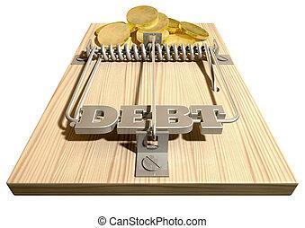 Mouse Debt Trap Front Coins