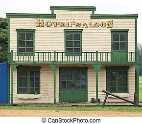 Saloon in Wild West style - Saloon and hotel in Wild West...
