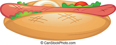 Food illustration on white background