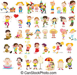 People illustration on white background