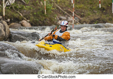 Kayakers competition