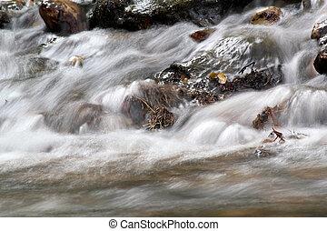 stream nature spring scene