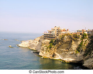 Panorama of Beiruts coastline, Lebanon