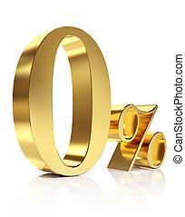 Ouro, zero, cento, desconto, Símbolo