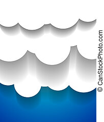Vector EPS10 design: applique vector clouds - Vector EPS10...