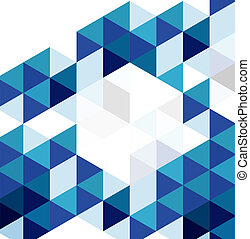 Blue modern geometric design template. Vector abstract...