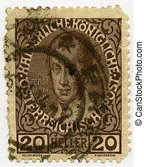 Vintage stamp - Vintage stamp from Austrian-Hungarian...