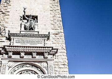 Old european street, Bergamo, Italy ( HDR image )