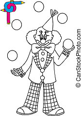 Coloring image with clown