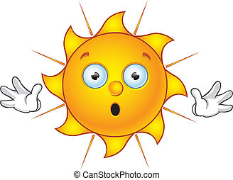 Sun Character - Saying Stop - Cartoon illustration of a Sun...