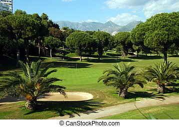 Golf course, Marbella, Spain. - Golf Course, Marbella, Costa...